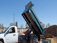 E-Tipper with Lo-Boy hoist. Engineered for easy installation, ease of operation, safety and long service life, the Lo-Boy is designed with a far-forward lift point, providing easier load elevation and greater stability.