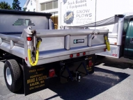 Stainless Steel E-Tipper hardware, including the tailgate hinge plates, pins and release handle are stainless.