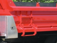 Features/Options selected on this body include the folding ladder, aluminum treadplate toolbox and poly sideboards.